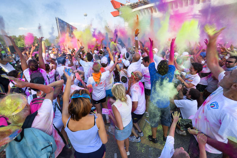 The Color Run 2013 In Milan, Italy Editorial Image