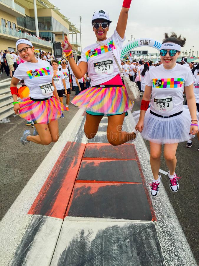 Color Run 2015 mixt Team winners royalty free stock images
