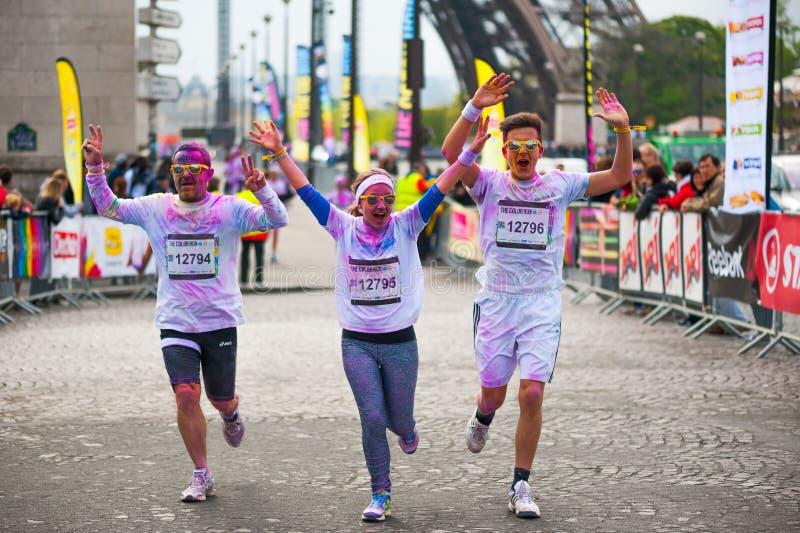 Color run in Paris - France royalty free stock photos