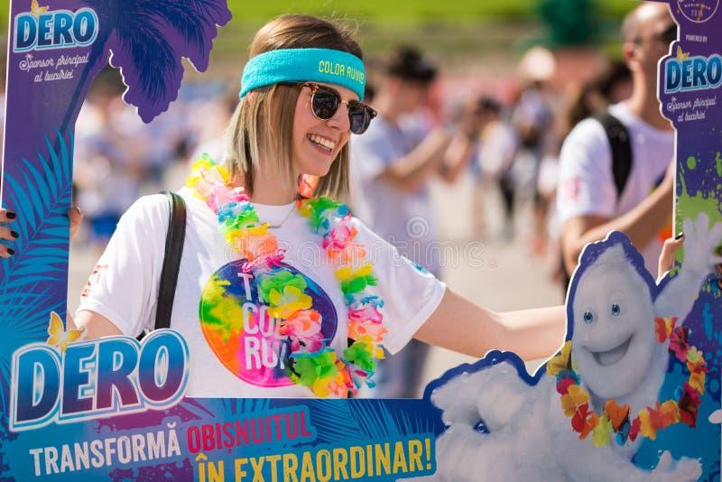 The Color Run Tropicolor World Tour 2016 stock photo