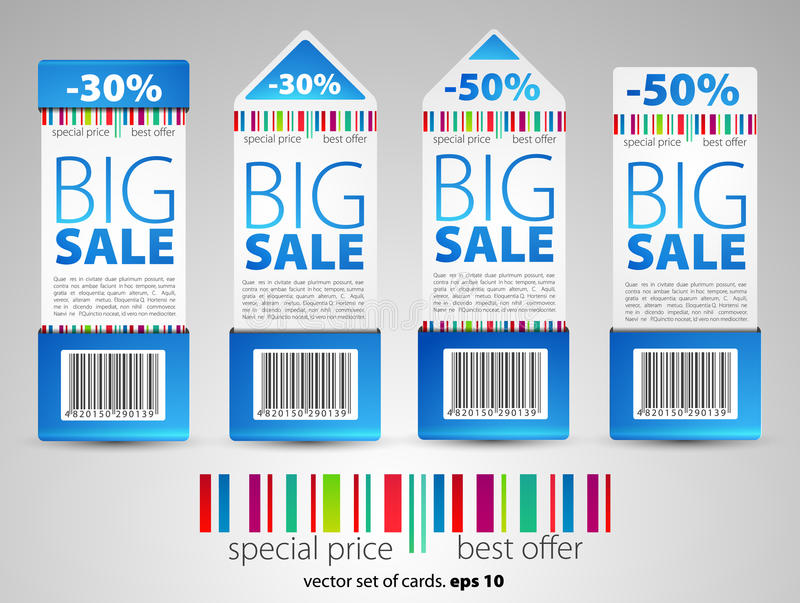 Color sale tickets royalty free illustration