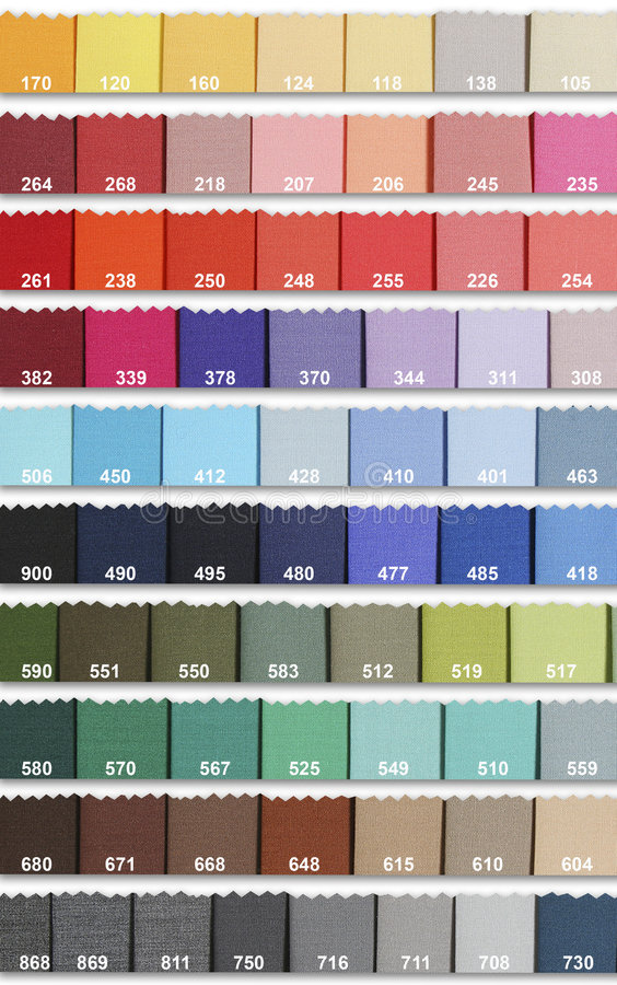 Color Samples In Fabric royalty free stock images