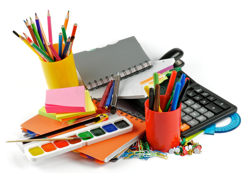 Download Color School Supplies stock image. Image of binder, paints - 26386475