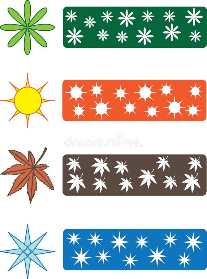 Download Color season symbols stock illustration. Image of leaf - 14670452
