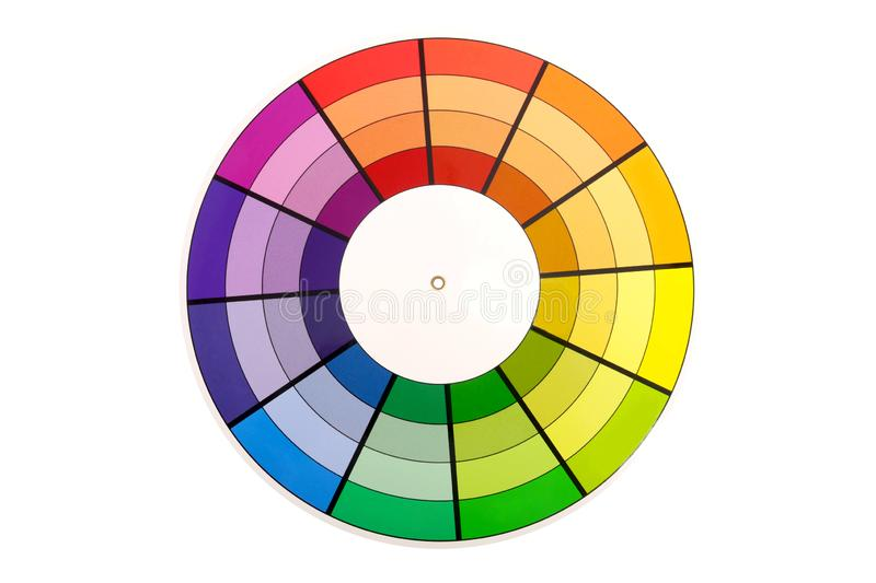 Color Selection Wheel. Isolated on white stock image