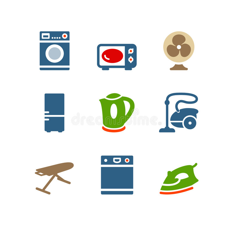 Download Color set 18 stock vector. Image of cleaning, button, icons - 7083761