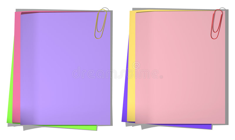Download Color Sheets Of A Paper For Record 01 Stock Illustration - Image: 7277423