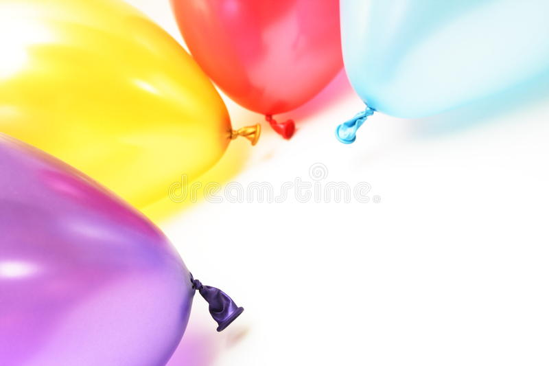 Color and shiny balloons stock photos