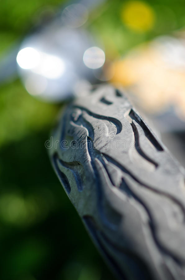 Color shot of a bike tire detail. With dof royalty free stock images