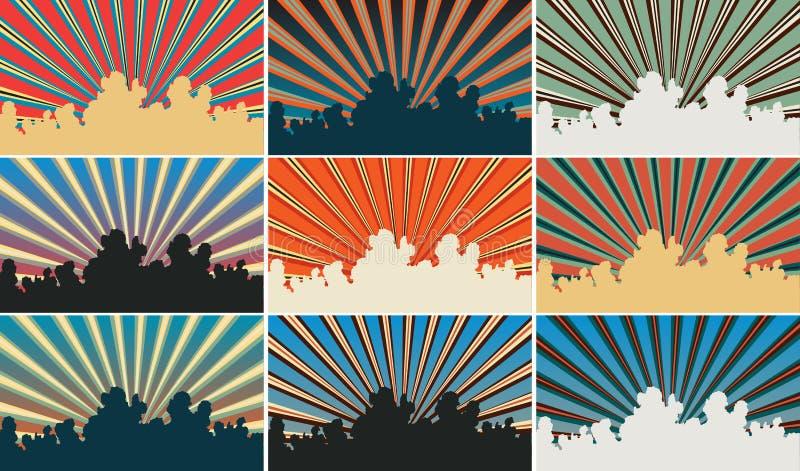 Color sky stock illustration