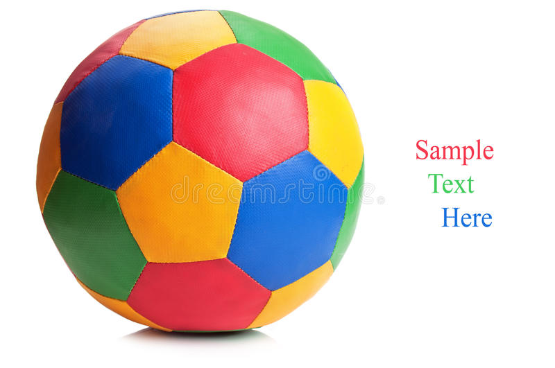 Color soccer ball royalty free stock photo