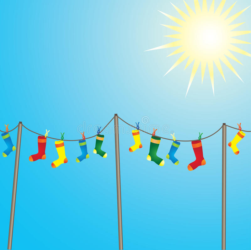 Color Socks Royalty Free Stock Images