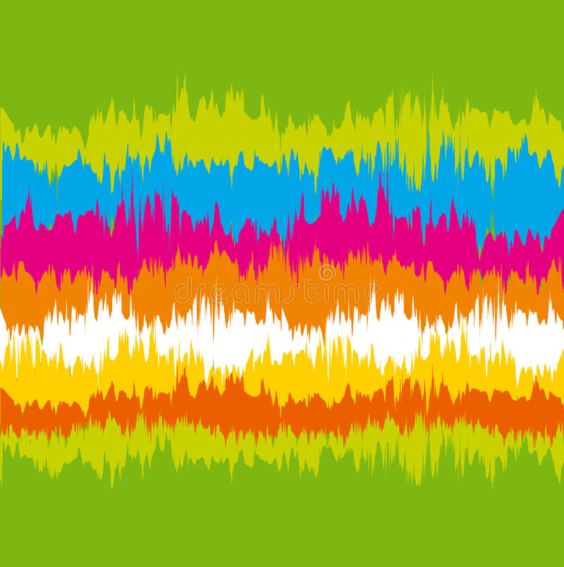 Color soud wave abstract vector illustration