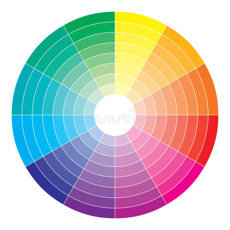 Color spectrum abstract wheel, colorful diagram ba royalty free illustration