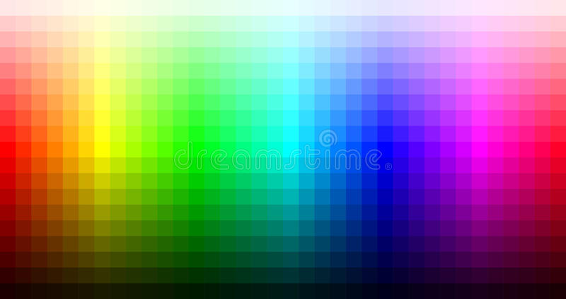 Color spectrum mosaic palette, hue and brightness. Vector. Illustration stock illustration