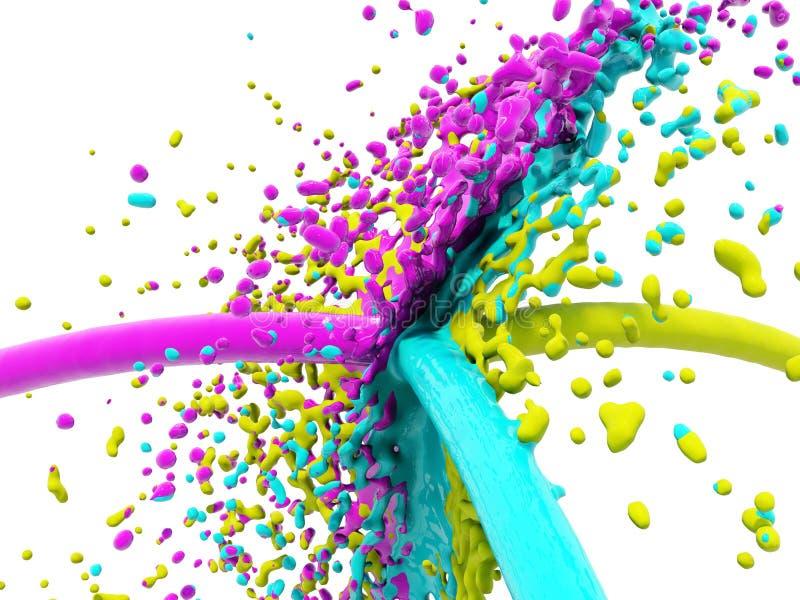 Download Color splash stock illustration. Illustration of cmyk - 9396264
