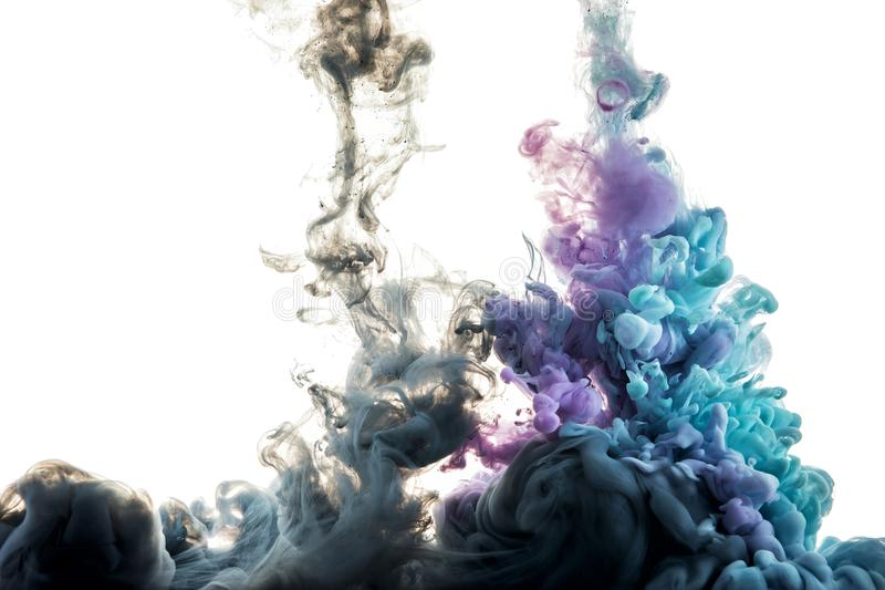 Color splashes of ink royalty free stock image