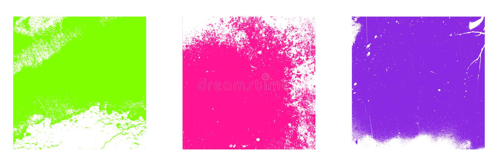 Color Grunge Textures stock illustration
