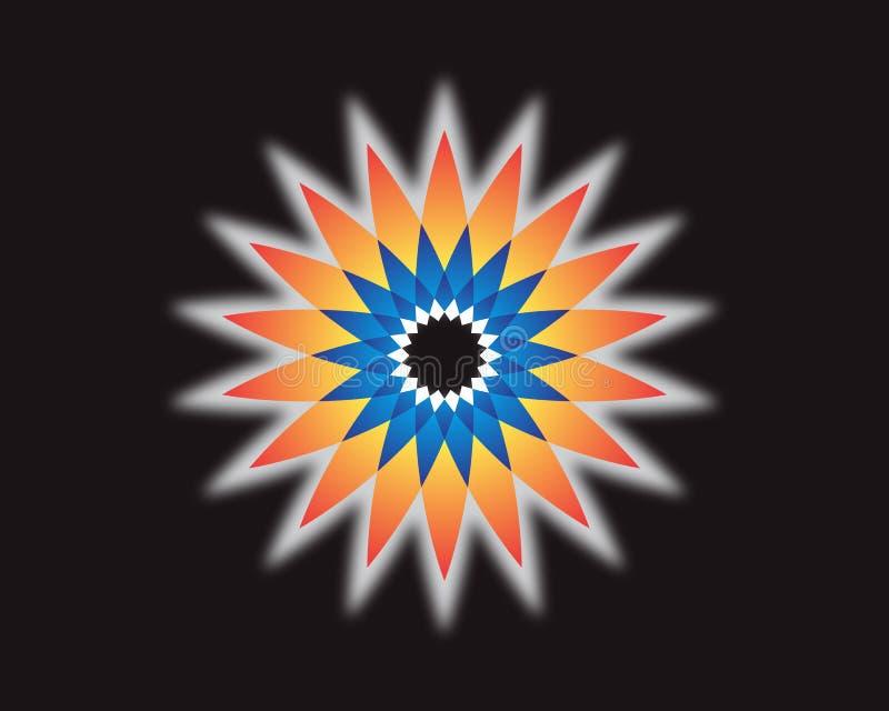 The color star on the black background. Vector illustration vector illustration