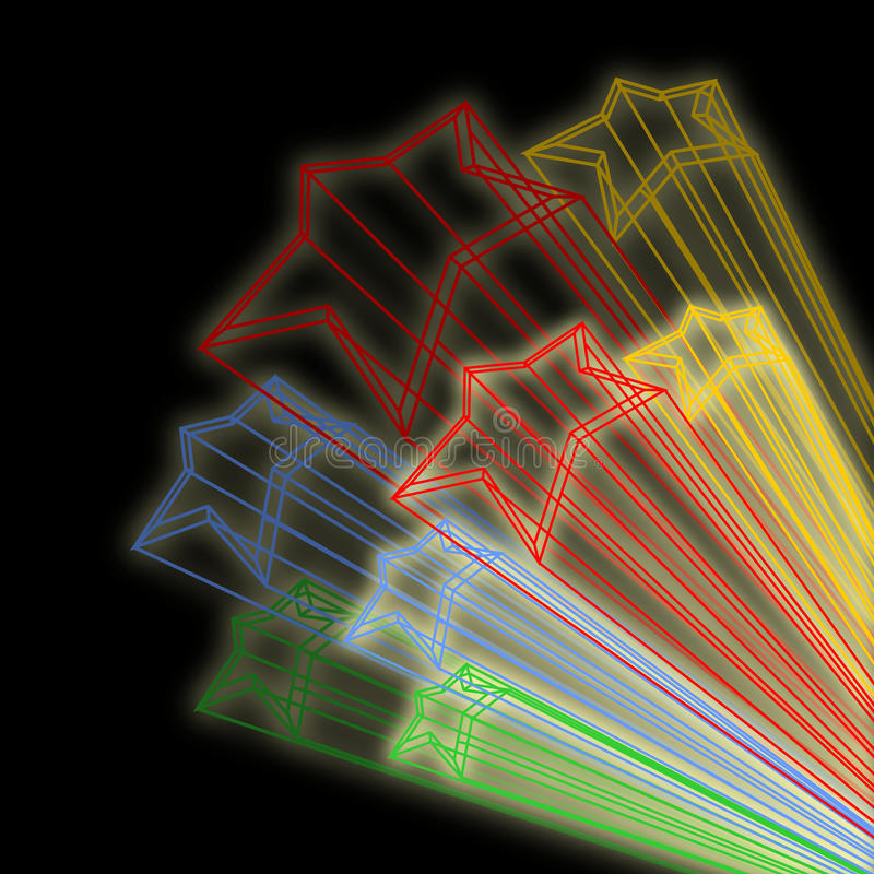 Download Color stars stock illustration. Image of flying, decoration - 24550524