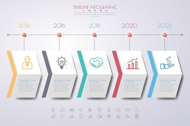 Timeline vectors photos and psd files free download long shadow color step design clean number timeline templategraphic or webs graphic timeline template toneelgroepblik Image collections