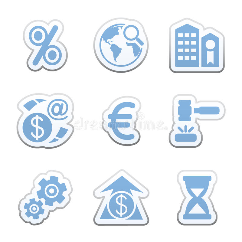 Download Color sticker set stock vector. Image of merchant, icons - 9541430
