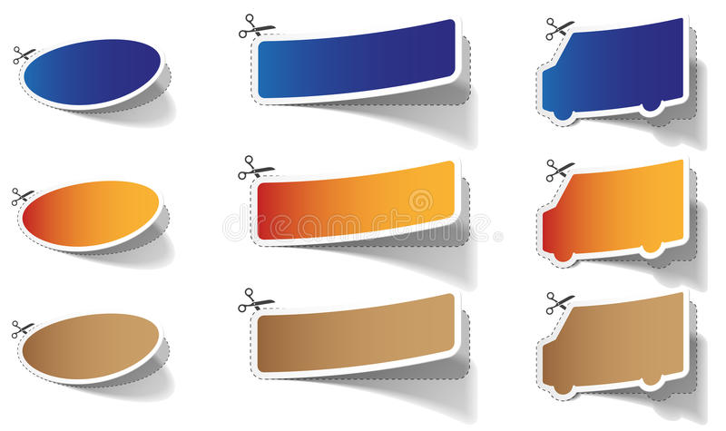 Color Stickers Stock Image