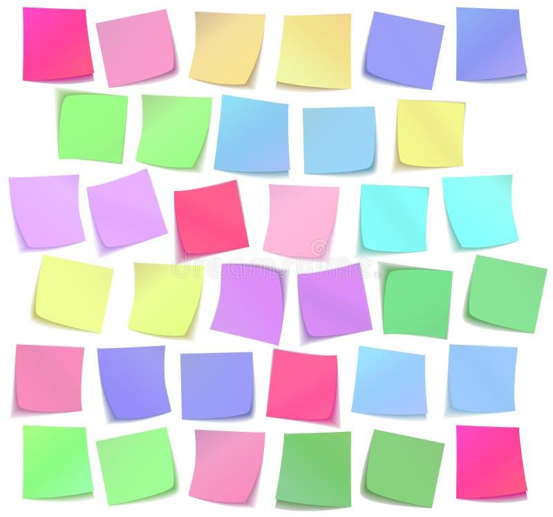 Color sticky notes set vector illustration