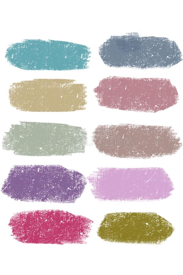 Color strokes, paint stains. The isolated multi-colored spots - an illustration stock illustration