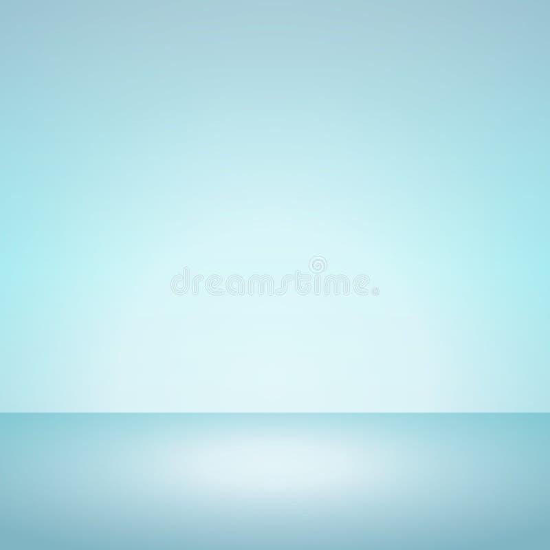Color suave de la menta del fondo azul de la pendiente stock de ilustración