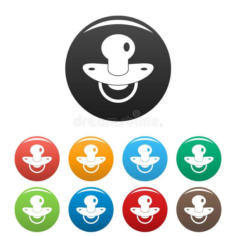 Color suave del sistema de los iconos de la entrerrosca stock de ilustración