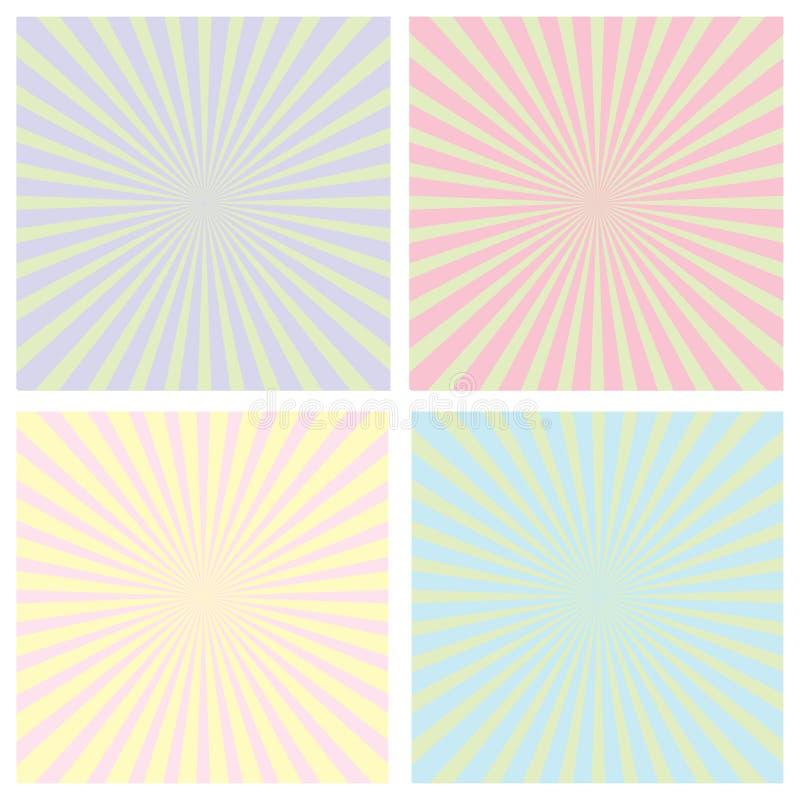 Download Color Sunrise Pattern Set Royalty Free Stock Photo - Image: 15897785