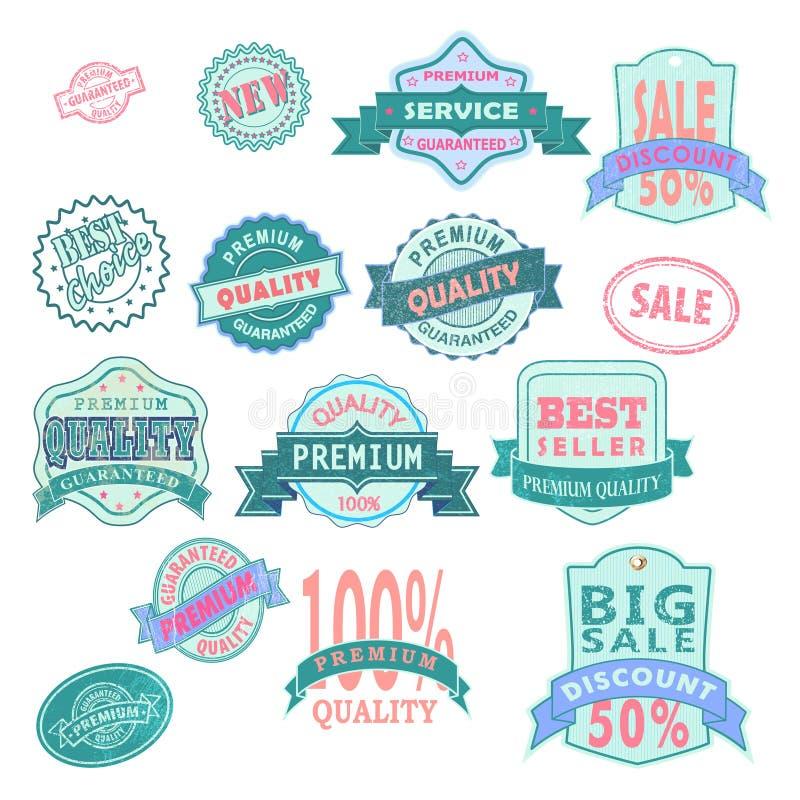 Color superior de las etiquetas libre illustration