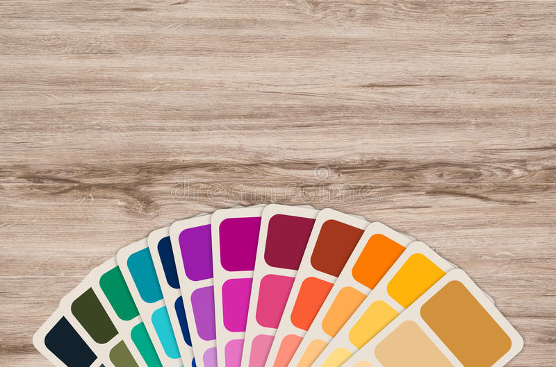 Color swatch collection. Color guide or color swatch collection stock image
