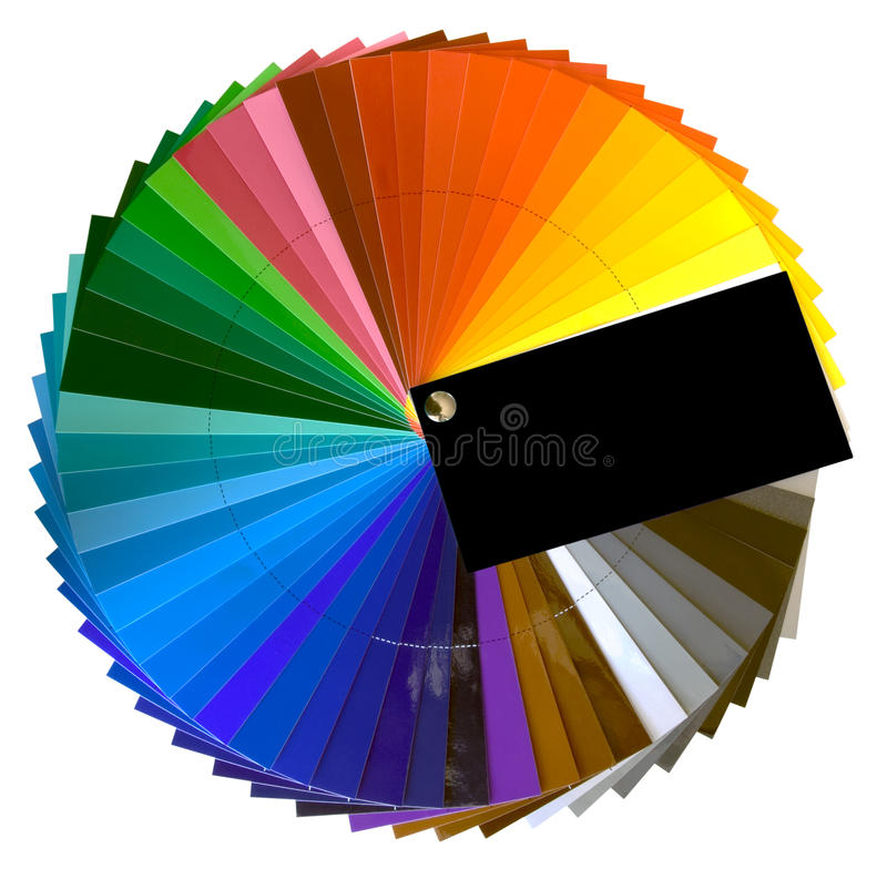Color Swatch Cutout royalty free illustration