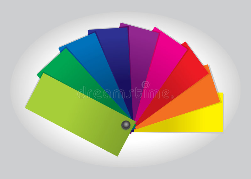 Color Swatch (illustration) stock illustration