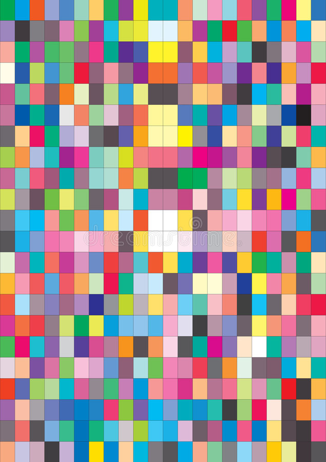 Color swatch - vector. Color swatch background also vector royalty free illustration