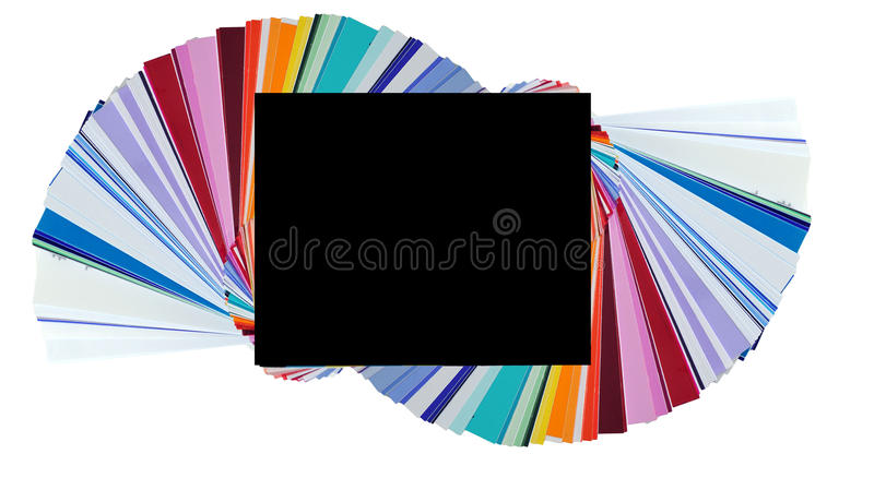 Color Swatches. These are plastic and transparent colors to place over your camera flash, but they look like normal color swatches stock images