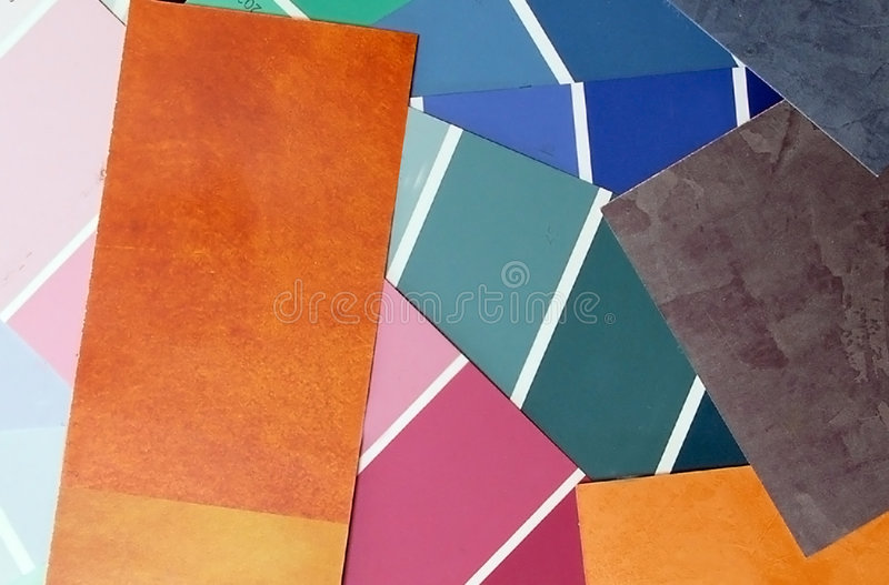 Color swatches. A colection color , swatches royalty free stock images