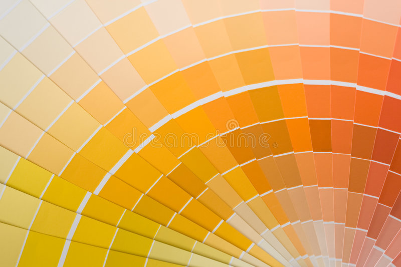 Color swatches. Abstract background of color swatches, color guides, close up royalty free stock photography