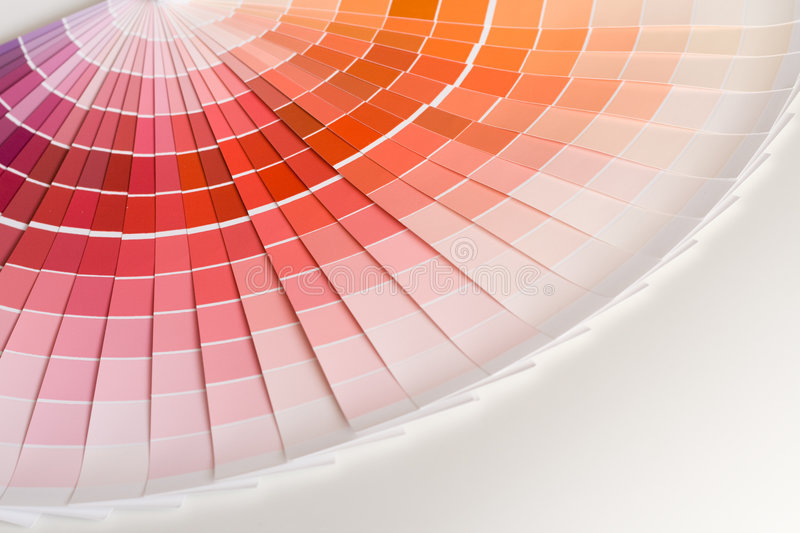 Color swatches. Abstract background of color swatches, color guides, close up stock image