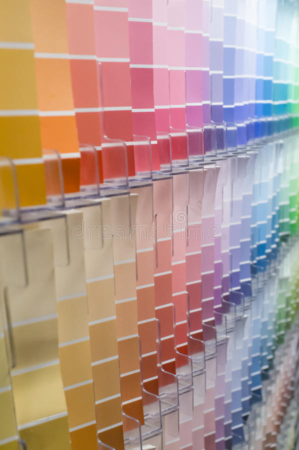 Color Swatches Background. Rows and columns of color swatches for use as background royalty free stock image