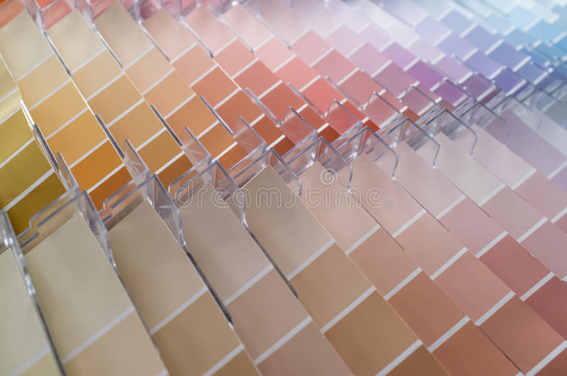 Color Swatches Background. Rows and columns of color swatches for use as background stock images