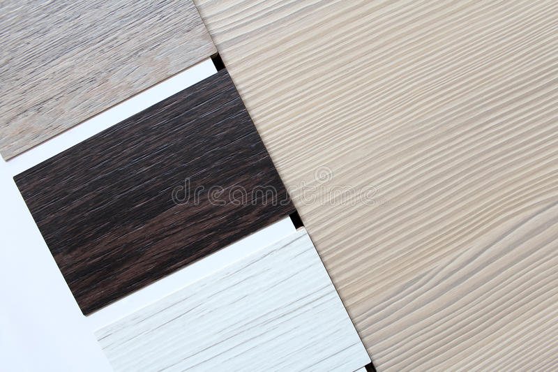 Color swatches of countertops stock photography