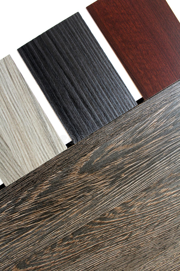 Color swatches of countertops. And particle Board stock photography