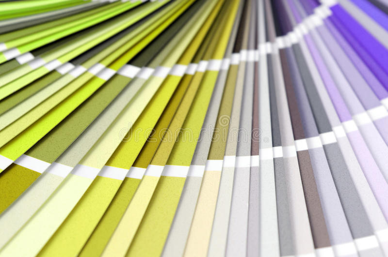 Color swatches full frame background to choice a color. Blue, orange, green,yellow royalty free stock photography