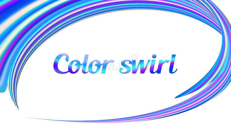 Color swirl. Round frame on white background. Vector graphics royalty free illustration
