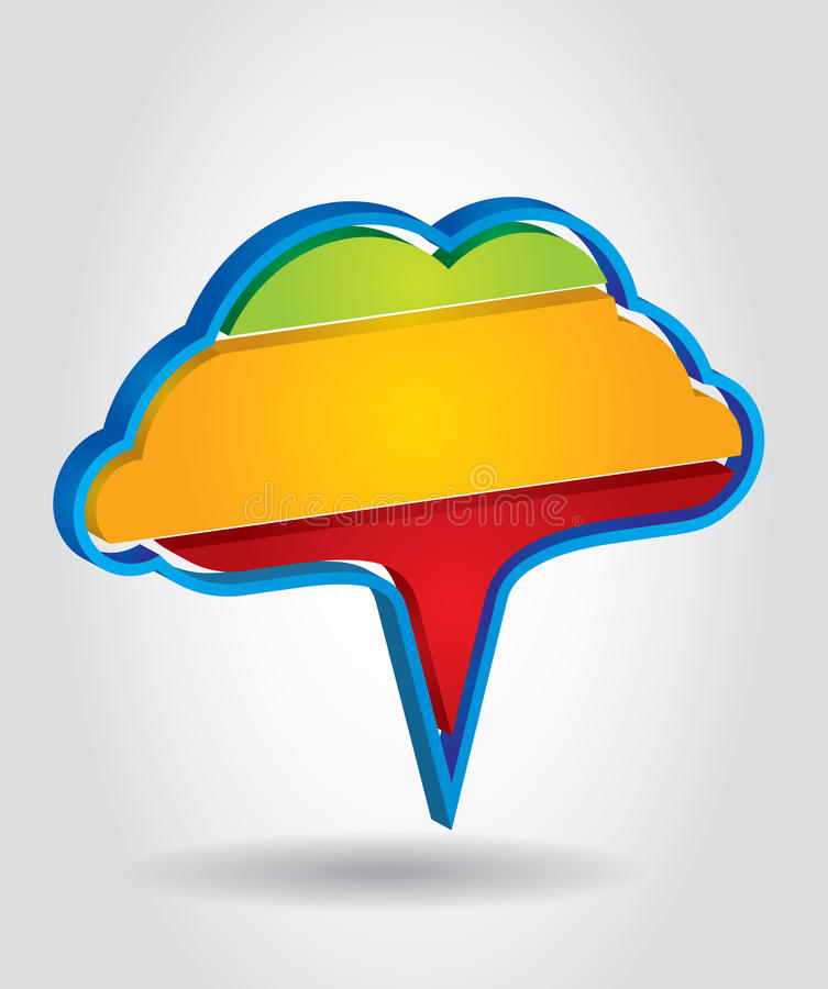 Color Tag. Cloud formations template with background royalty free illustration