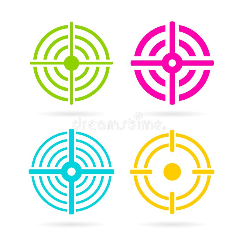 Color target vector icon royalty free illustration