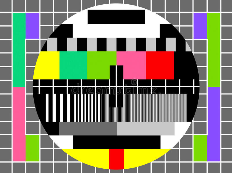 Color test for television screen stock vector for Ecran photo test